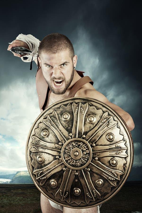 Guerreiro do gladiador imagem de stock royalty free