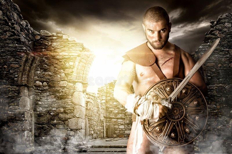 Guerreiro do gladiador imagem de stock
