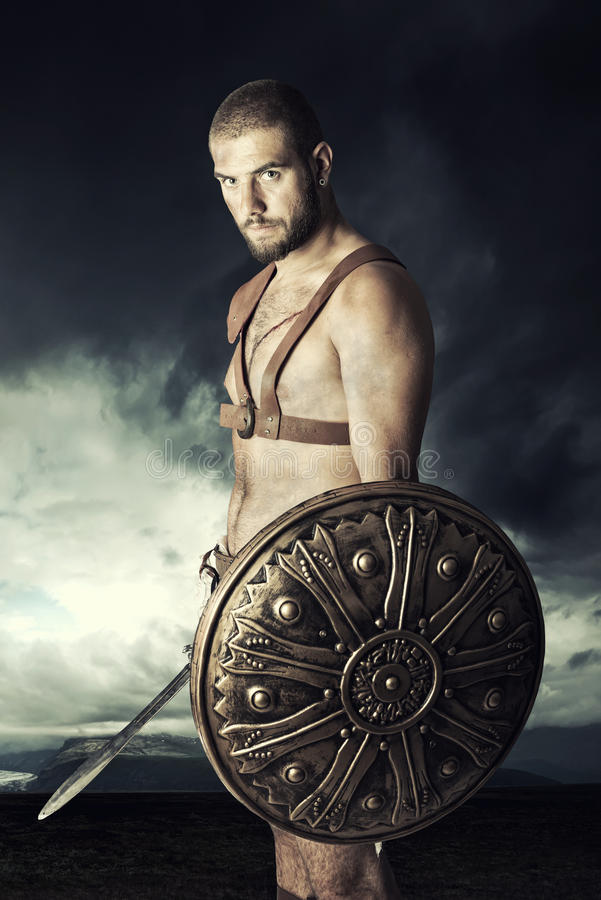 Guerreiro do gladiador fotografia de stock royalty free