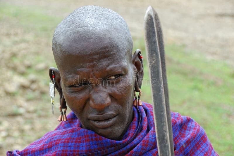 Guerreiro do Masai fotos de stock royalty free