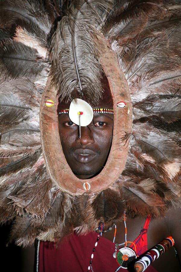 Guerreiro do Masai (Kenya) foto de stock royalty free