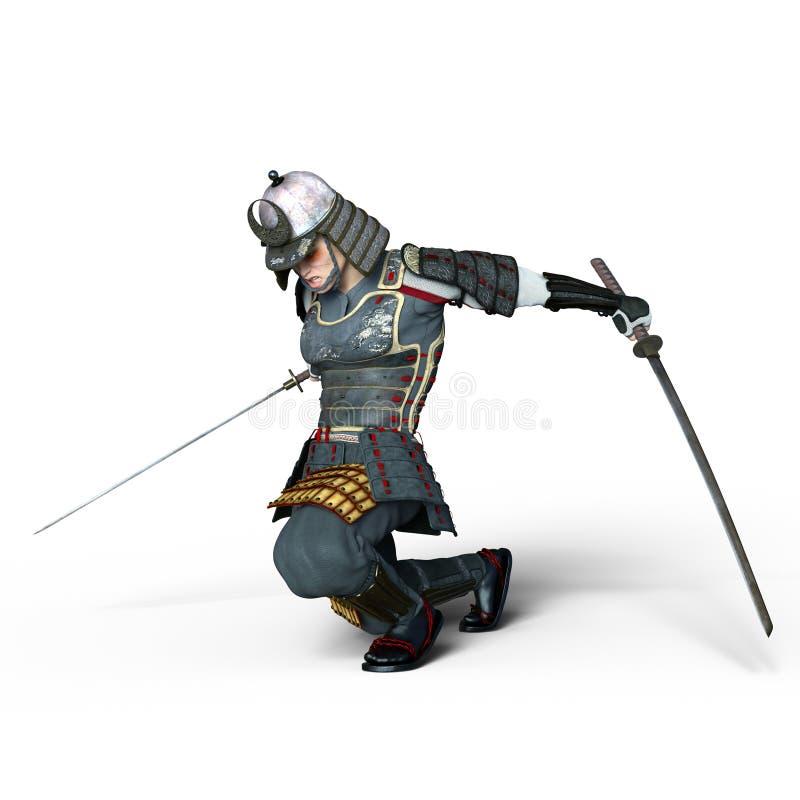 Guerreiro do samurai ilustração royalty free