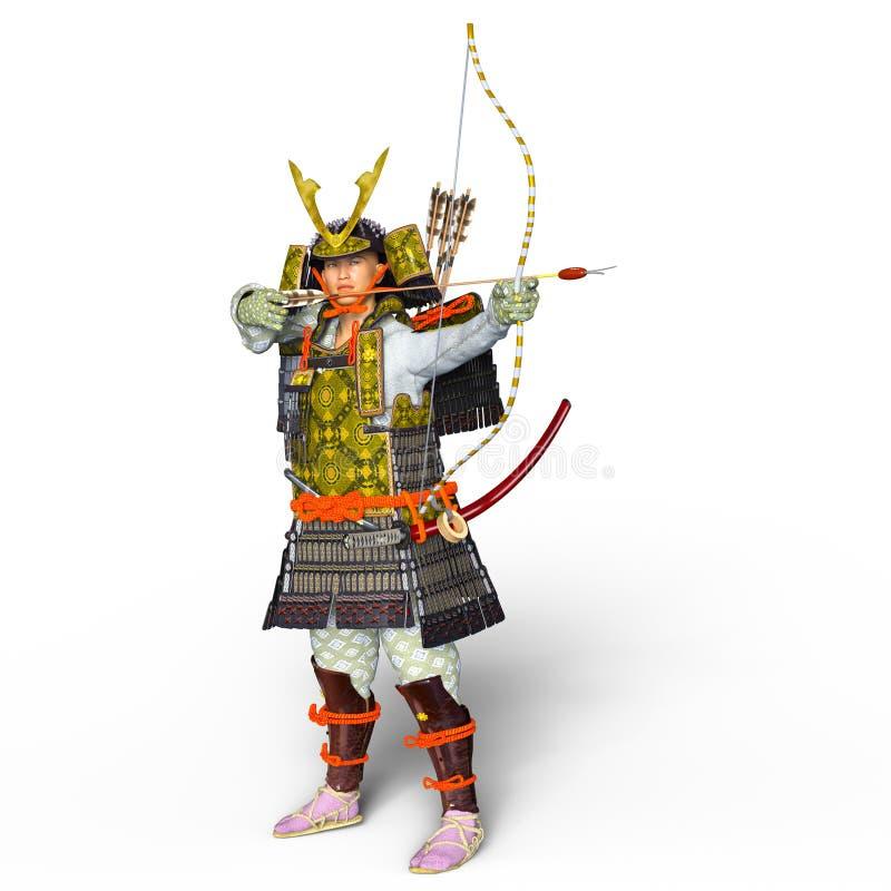 Guerreiro do samurai ilustração stock