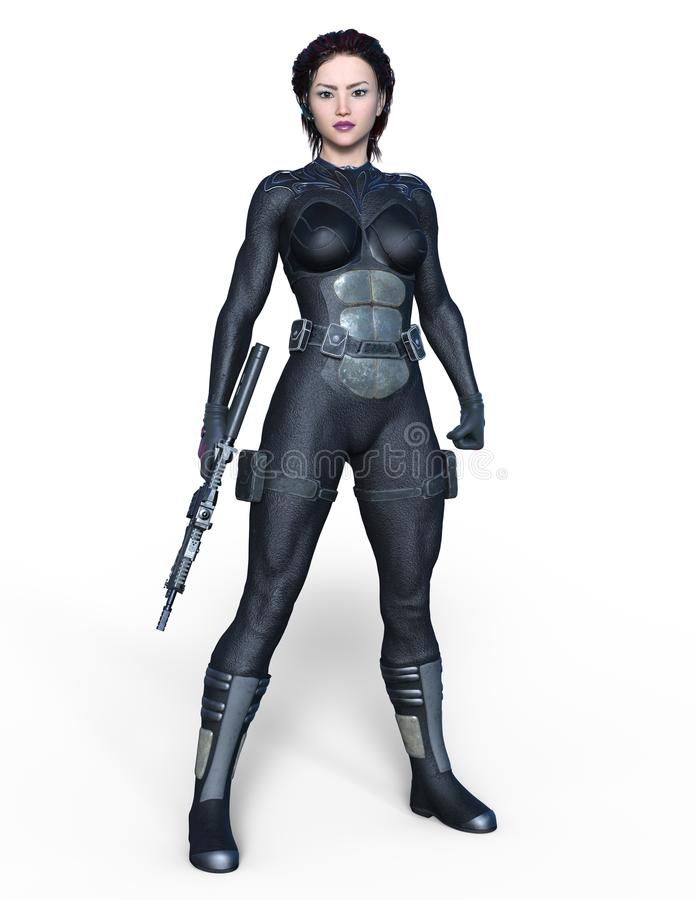 Guerreiro fêmea ilustração do vetor