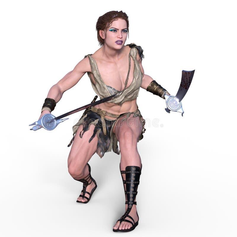 Guerreiro fêmea ilustração stock