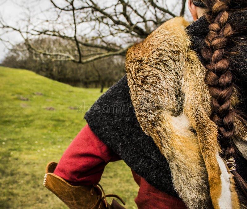 Guerreiro fêmea de Viking fotos de stock royalty free