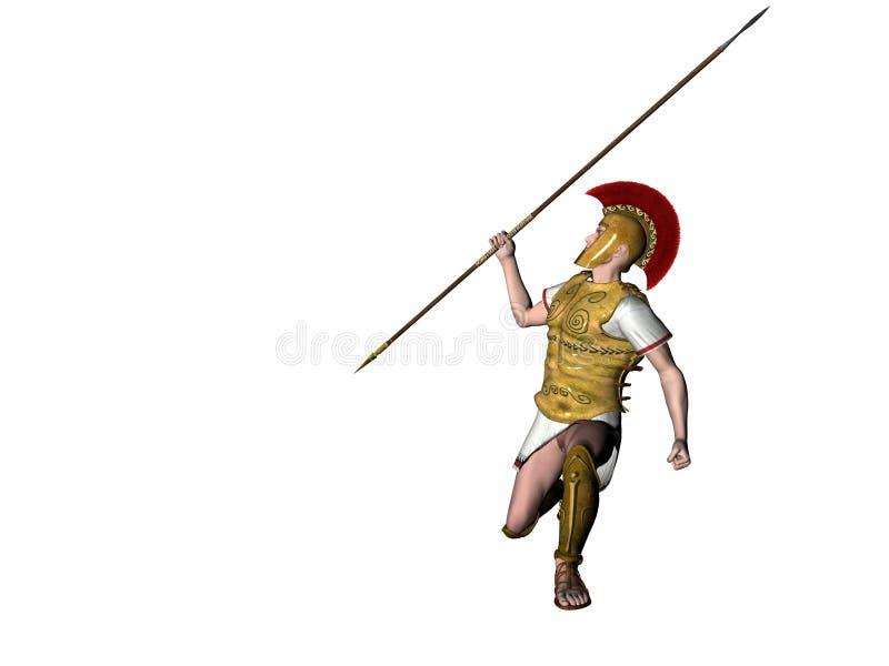 Download Guerreiro grego 12 ilustração stock. Ilustração de guerra - 538953