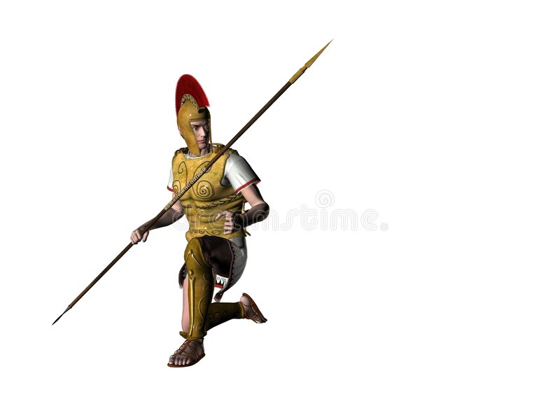 Download Guerreiro grego 13 ilustração stock. Ilustração de potência - 538954
