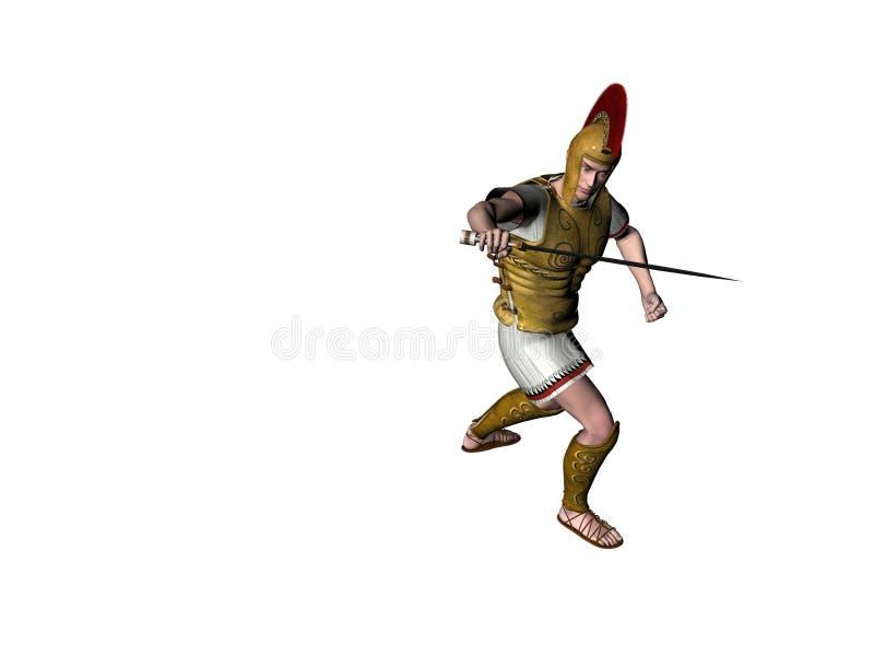 Download Guerreiro grego 9 ilustração stock. Ilustração de tempo - 538938