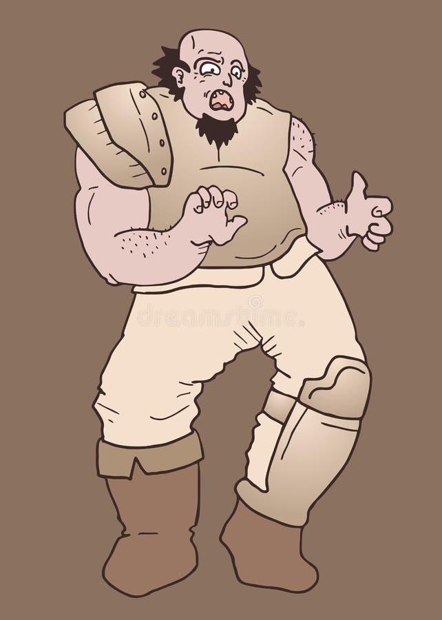 Guerreiro idoso ilustração do vetor