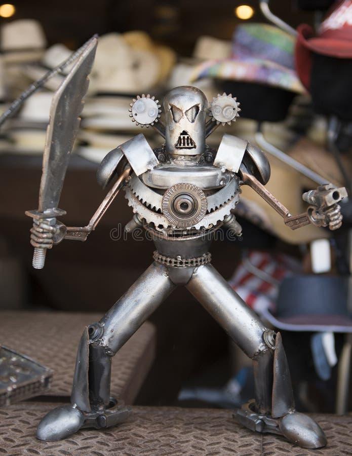 Guerreiro irritado do robô imagem de stock