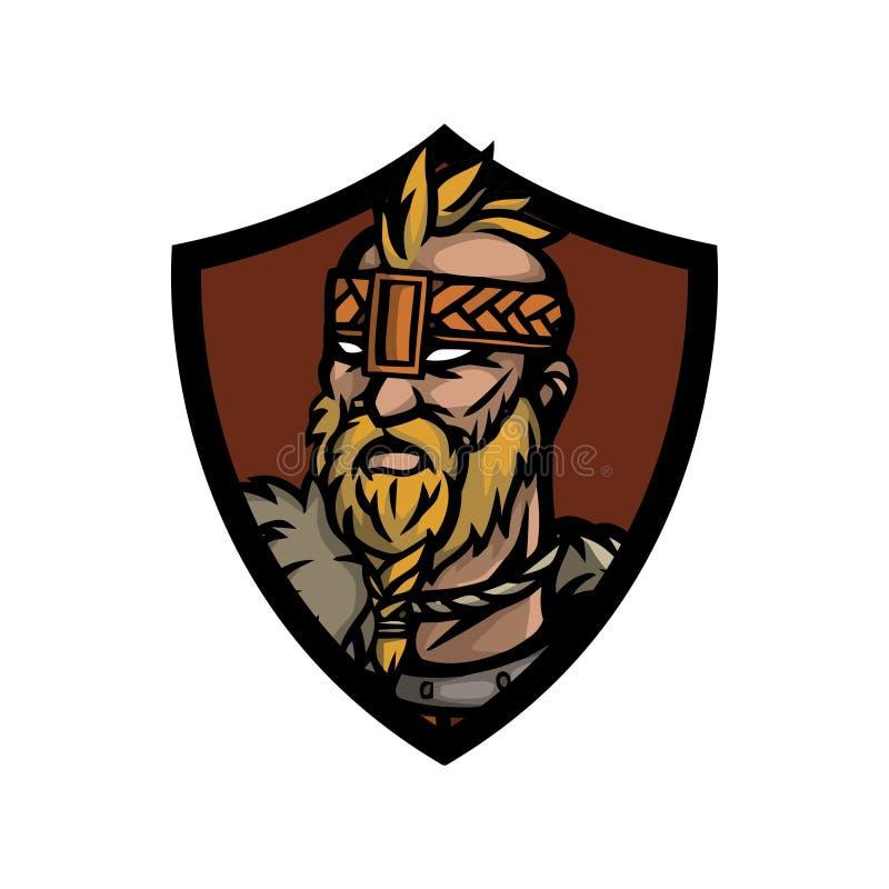 Guerreiro nórdico 10 ilustração do vetor