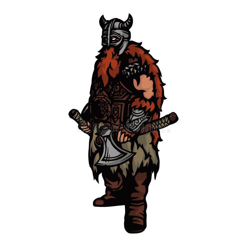 guerreiro nórdico 1 ilustração royalty free