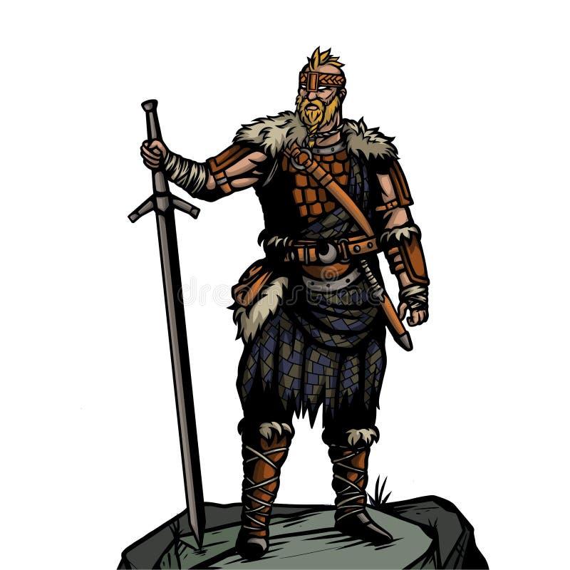 Guerreiro nórdico 5 ilustração royalty free