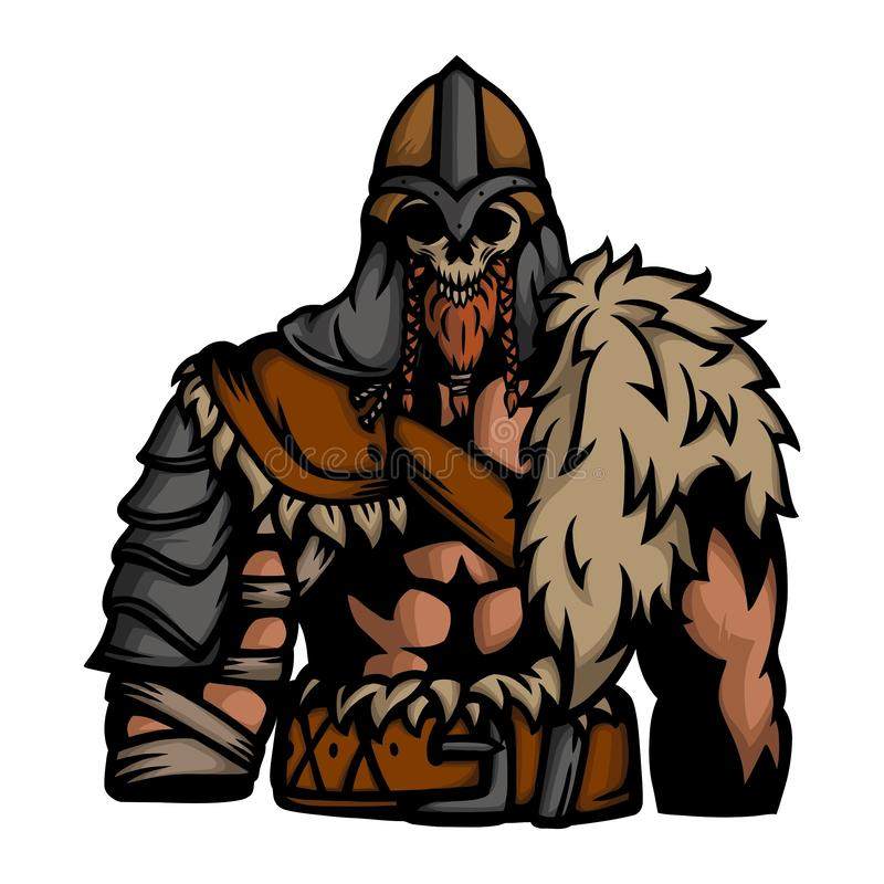 Guerreiro nórdico 4 ilustração stock