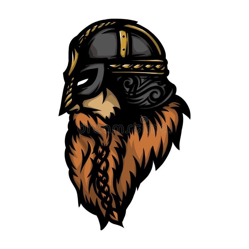 Guerreiro nórdico 9 ilustração royalty free
