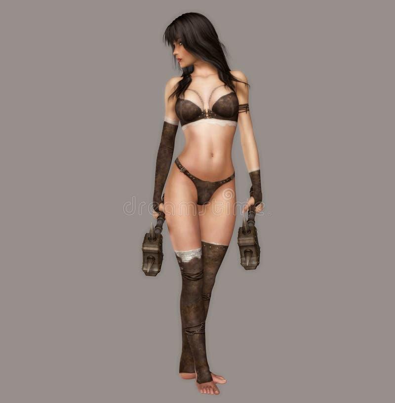 Guerreiro 'sexy' ilustração stock