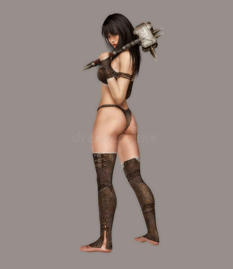 Guerreiro 'sexy' ilustração royalty free