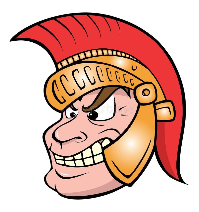 Guerreiro Trojan ilustração stock