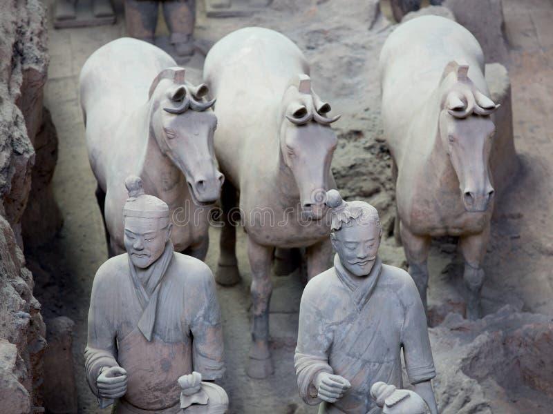 Guerreiros da terracota imagem de stock