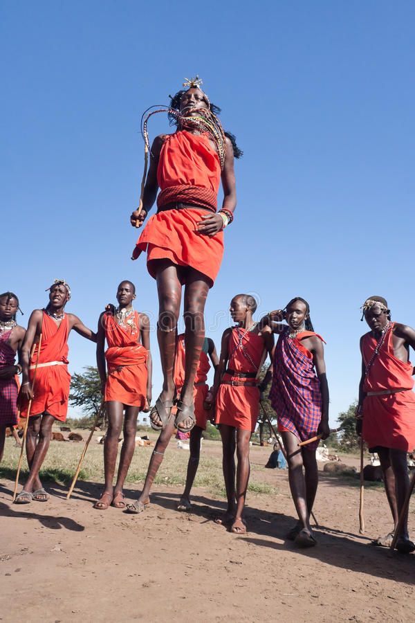 Guerreiros de Maasai fotografia de stock royalty free