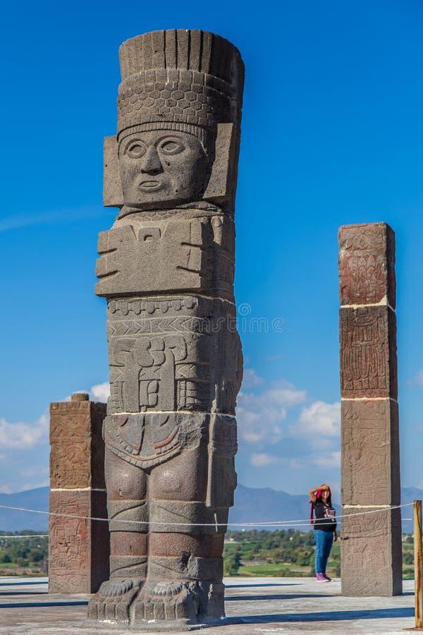 Guerreiros de Toltec - Atlantes foto de stock