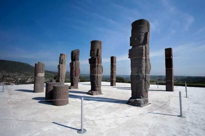 Guerreiros de Toltec. Ruínas antigas de Tula de Allende imagem de stock royalty free