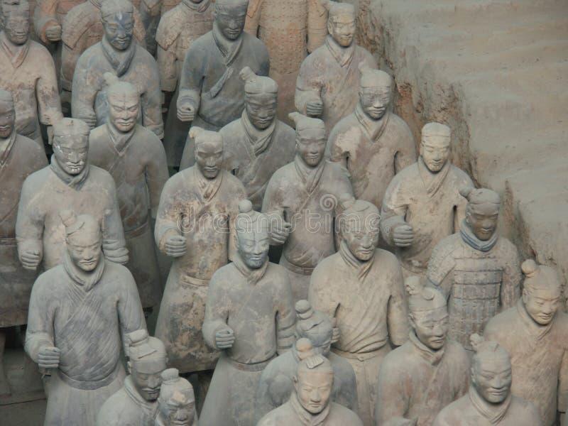 Guerreiros do exército da terracota em Xian China fotografia de stock royalty free