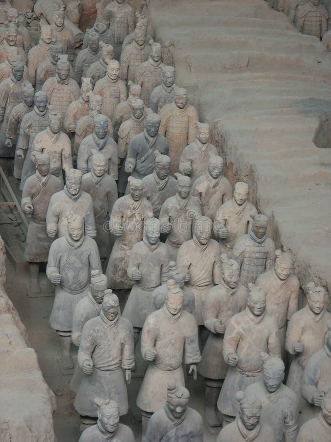 Guerreiros do exército da terracota em Xian China imagem de stock