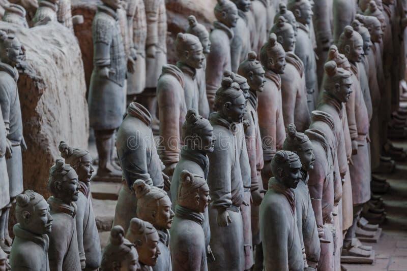 Guerreiros do exército famoso da terracota em Xian China fotos de stock