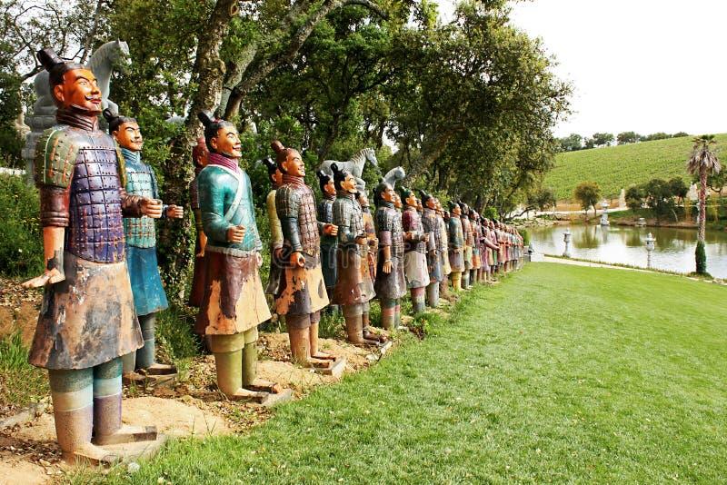 Guerreiros do Terracotta imagens de stock