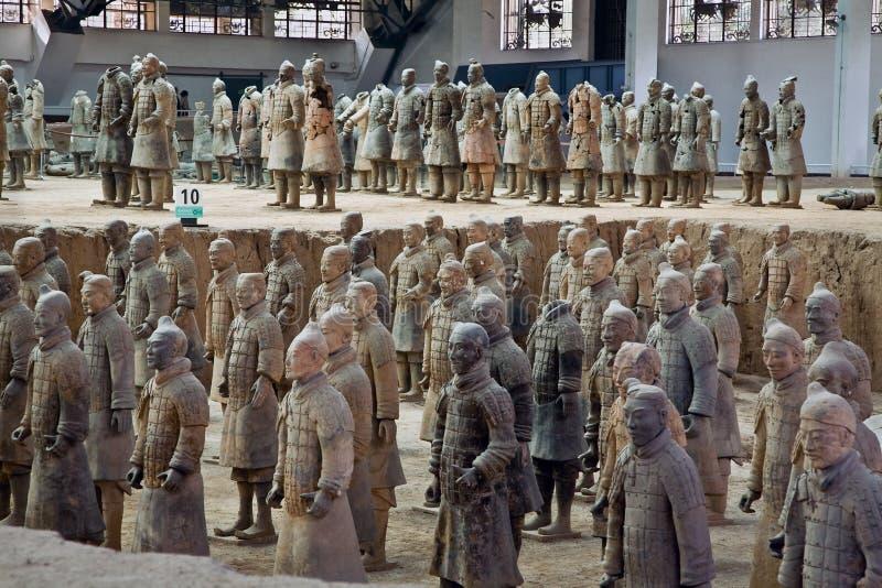 Guerreiros do Terracotta imagens de stock royalty free