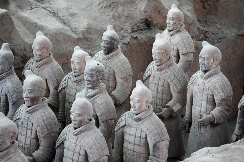 Guerreiros do Terracotta, China foto de stock