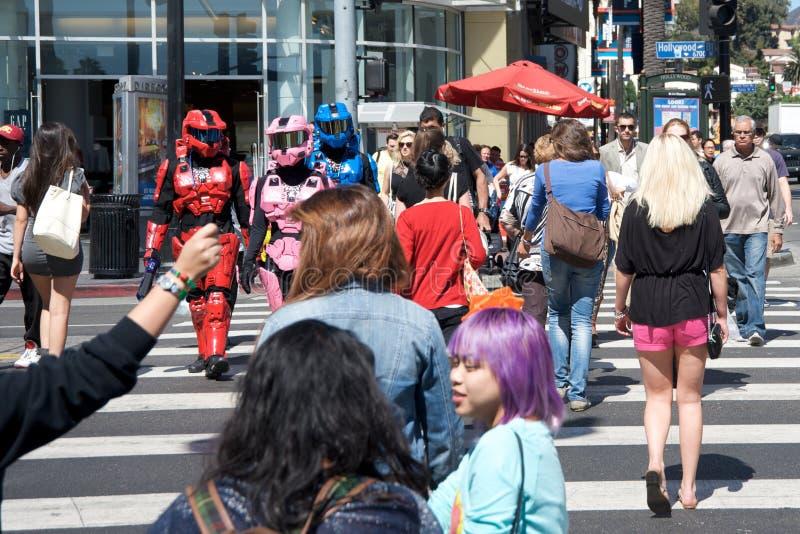 Guerreiros futuristas em Hollywood imagens de stock