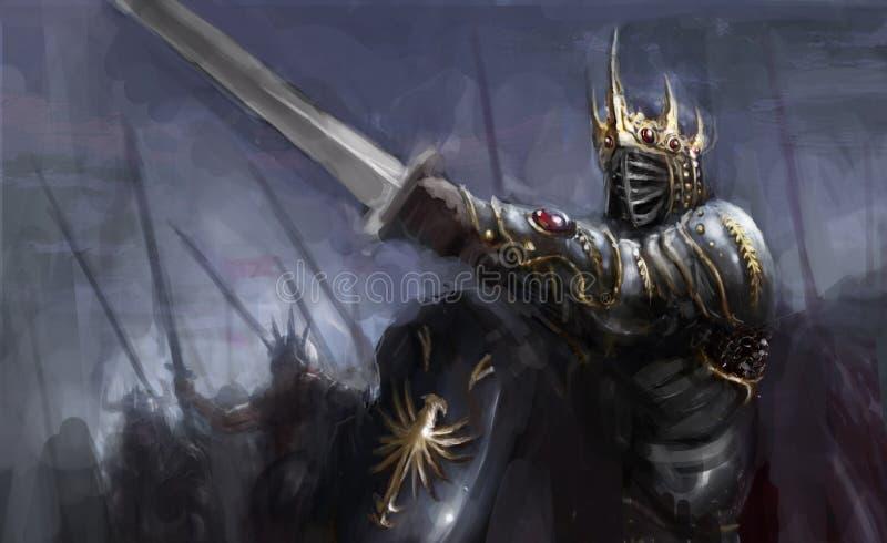 guerrero ilustración del vector