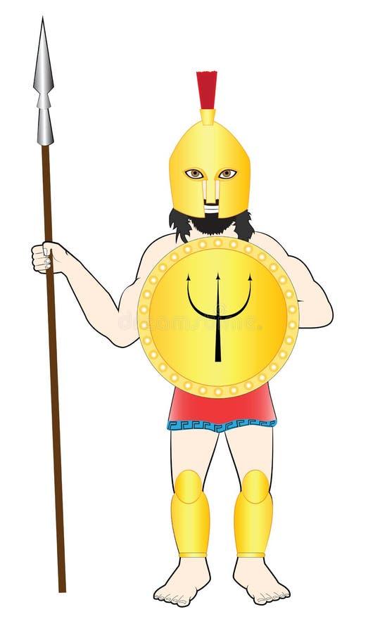 Guerrero antiguo del hombre libre illustration