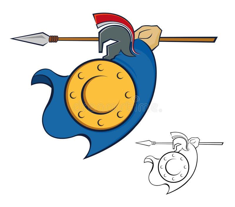 Guerrero con la lanza libre illustration