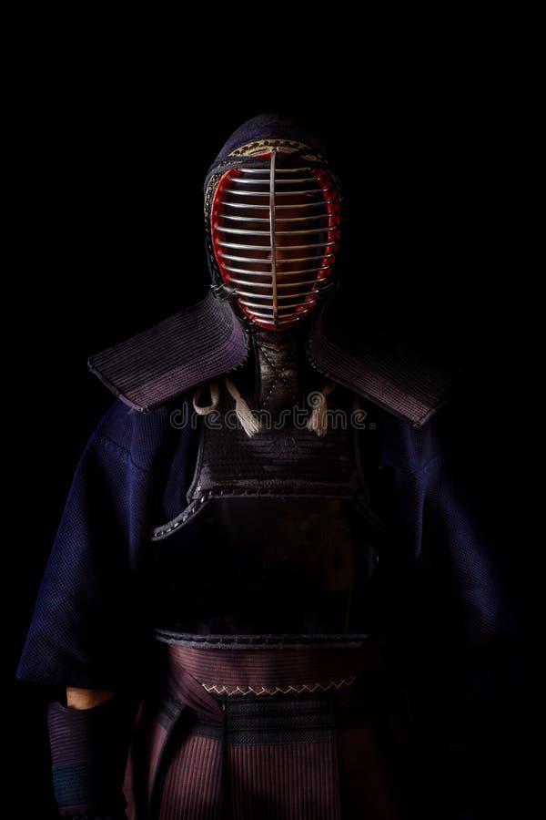Guerrero de Kendo fotografía de archivo