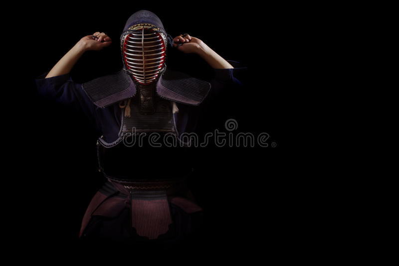 Guerrero de Kendo imagen de archivo