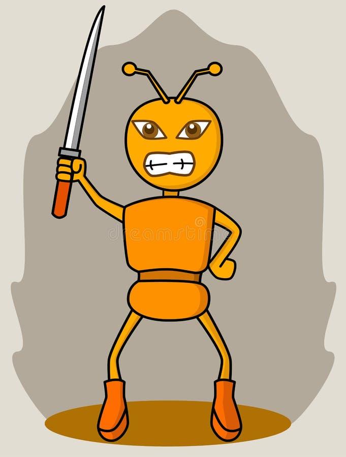 Guerrero de la hormiga ilustración del vector