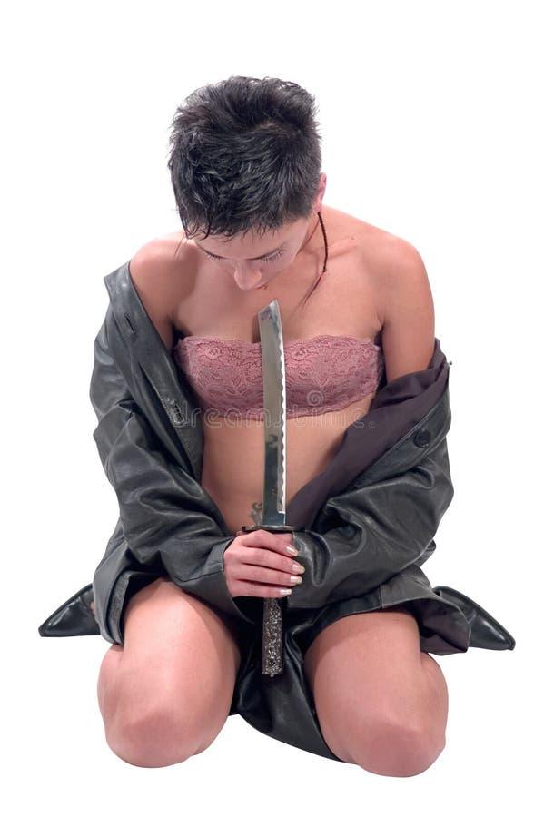 Guerrero de la mujer foto de archivo libre de regalías