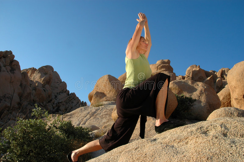 Guerrero de la yoga foto de archivo