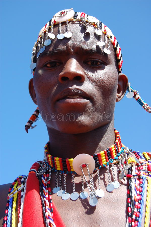Guerrero de Maasai fotos de archivo