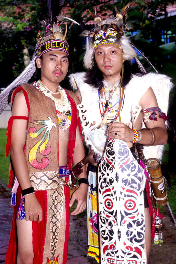 Guerrero de Orang Ulu imagen de archivo