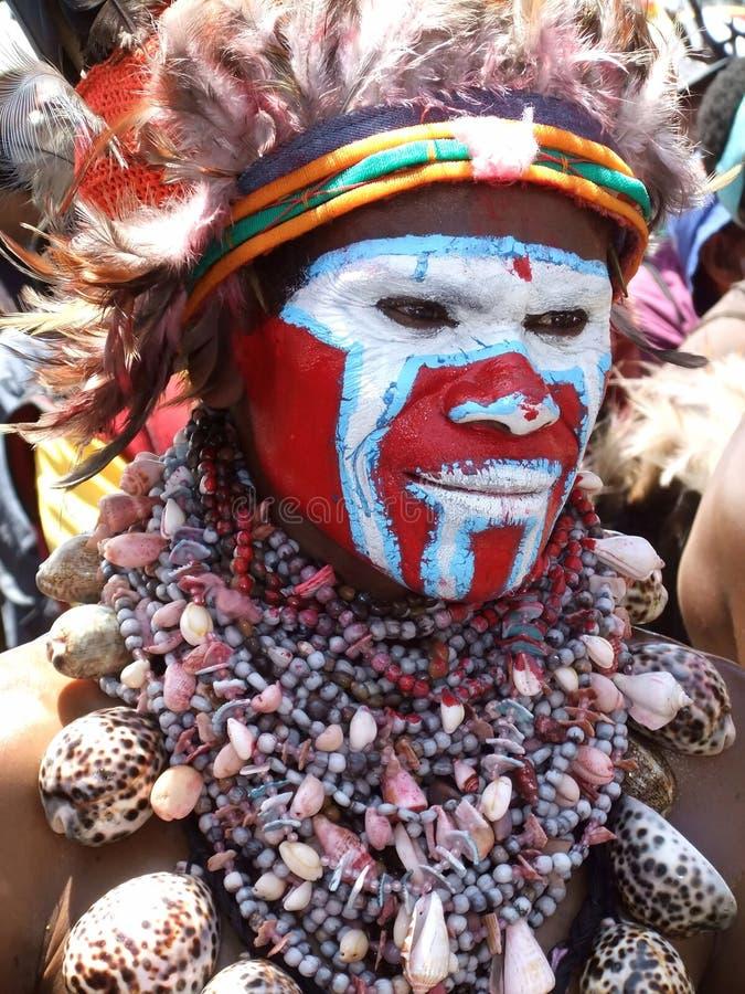 Guerrero de Papua imagen de archivo