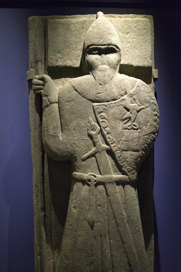 Guerrero de piedra céltico antiguo fotografía de archivo libre de regalías