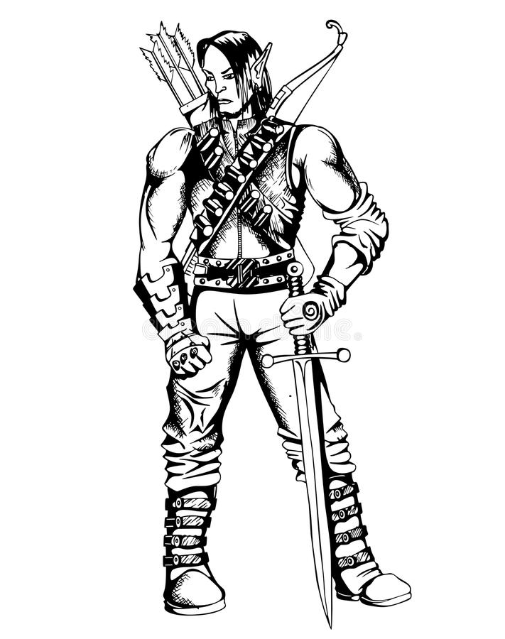 Guerrero del duende libre illustration