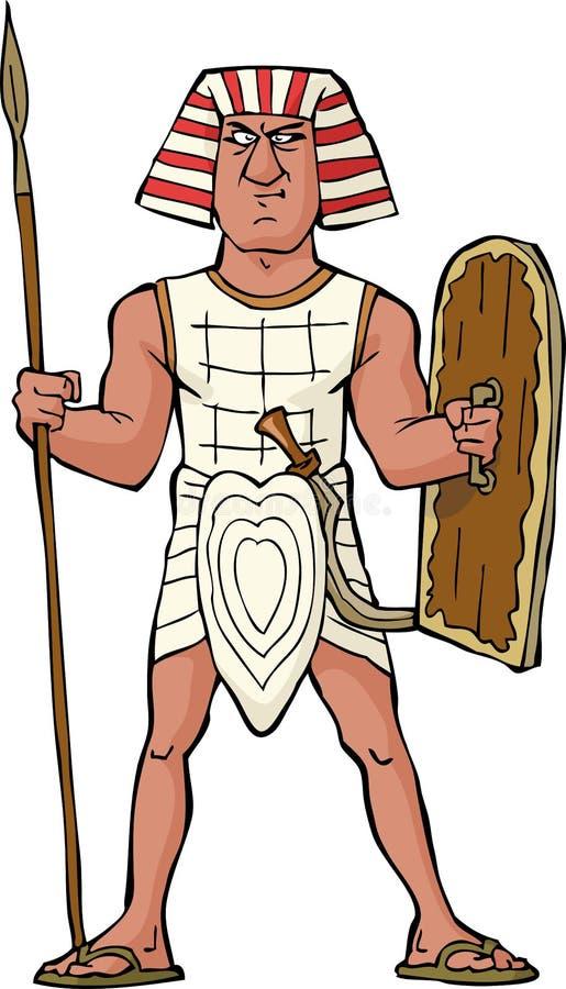 Guerrero egipcio antiguo stock de ilustración