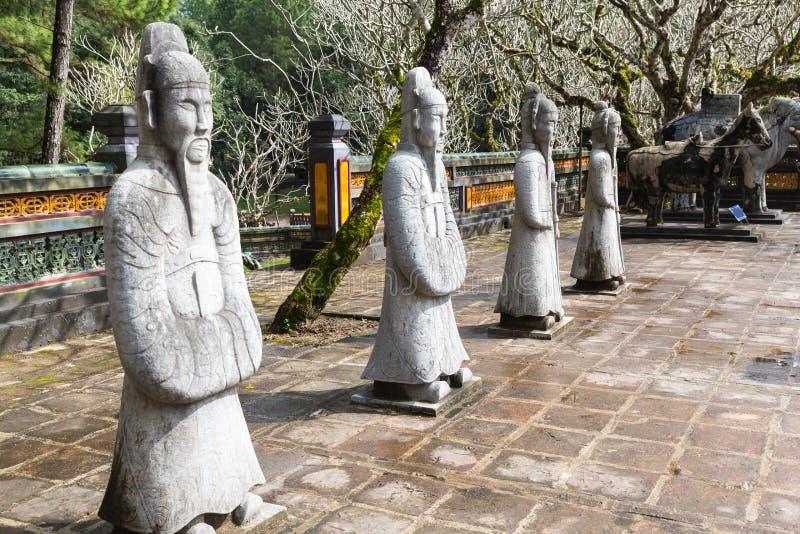 Guerrero en la tumba de Tu Duc en Hue Vietnam fotos de archivo libres de regalías