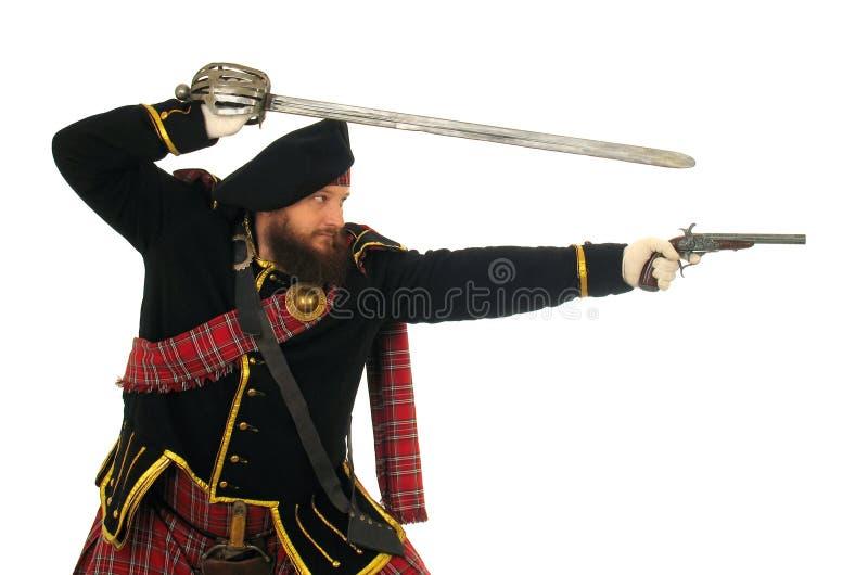 Guerrero escocés imagen de archivo